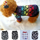 Small Pet Puppy Dog Boy Skull  T Shirt Vest Clothes Clothing Summer Suit Costume
