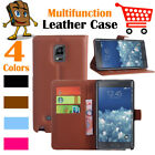 Leather Wallet Stand Folio Flip LSP Case For Samsung Galaxy Note 4 / SM-N910