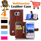 Leather Wallet Stand Folio Flip LSP Case For Samsung Galaxy S6 Active  SM-G890
