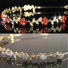 Party Prom Crystal Flower Gold / Silver Plated Headband Tiara Bridemaids T055RG