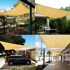 Beige Top Sun Canopy Shade Shelter Sail Net Outdoor Garden Cover Awning Patio