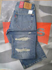 LEVI'S 527 MEN'S SLIM BOOT CUT LOW RISE ZIP FLY DESTRUCTED JEANS OUTTAKE