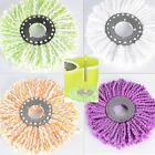2PC 360° Rotating Replacement Head Easy Magic Microfiber Spinning Floor Mop Head