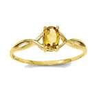 10k Yellow Gold 4-Prong Set Oval Twist Citrine Ring