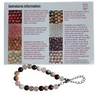 Make your own STRESS  ANXIETY GEMSTONE BRACELET Amethyst Rose Quartz Morganite