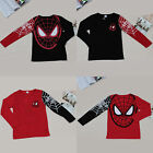 Toddler Kids Unisex Boys Girls Spiderman Long Sleeve Tops T-Shirt Clothes Blouse