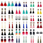1 Pair Elegant Women Fashion Jewelry Rhinestone Ear Stud Earrings Crystal Tassel