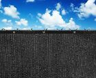 Fence Windscreen Privacy Screen Shade Cover Fabric with Grommets Black