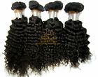 "USPS  Length Body Wavy Deep Curly Hair Extension Weft 18""-26"" 100g #1 Jet Black"