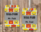 10 Personalized Teacher Classroom Passes with Name Hall Pass Bathroom Pass