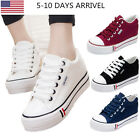 Trendy Womens Fashion Lace Up Shoes Low Top Canvas Shoes Multi colors Hot New