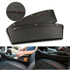 2x PU Leather Catch Catcher Box Caddy Car Seat Slit Pocket Storage Organizer