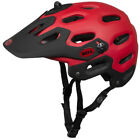 New BELL SUPER MTB AM All-Mountain Helmet with Visor Red Black Medium Large
