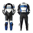 Mens Motorbike Cowhide Leather Suit Sports Motorcycle Racing Leather 1pc and 2pc