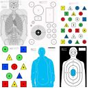 RE Factor Tactical Targets-10 Pack-Kill Zone-Essentials-IQ-Blue Man-Ice Man-