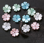 5Pcs Carved Shell Flower Shaped Bead Caps Spacer Bead DIY Findings 2.5x15mm