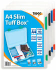 Tiger A4 Slim Tuff Rigid Strong Box Transparent Document Paper Filing Box File