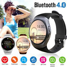 KW18 Bluetooth Smart Watch Wrist Phone Mate SIM GSM Heart Rate For  IOS Andriod