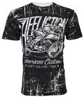 AFFLICTION Mens T-Shirt HELL RACER American Customs Motorcycle Biker $58 image
