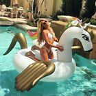 Giant Swan Pizza Animal Inflatable Ride-On Pool Float Toy Blow up For Kids Adult
