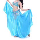NEW Belly Dance Costume Outfit Set Bra Top Belt Hip Scarf Skirt Hollywood Dress