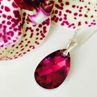 Swarovski Elements 925 Silver Crystal Necklace Pendant Teardrop Pear Jewellery