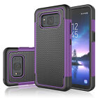 For Samsung Galaxy S8 Active Shockproof Hybrid Rugged Rubber Combo Case Cover