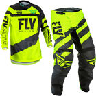 NEW 2018 FLY RACING F16 MOTOCROSS ENDURO KIT COMBO BLACK HI VIZ