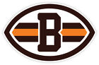 Cleveland Browns Logo Vinyl Sticker Decal *SIZES* Cornhole Bumper Wall on eBay