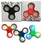 LED RAINBOW LIGHT HAND SPINNER TRI FIDGET TOY EDC FINGER FOCUS AUTISM Promotion