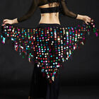 Внешний вид - New 2018 Lady  Belly Dance Costumes Hip Scarf Wrap Belt Skirt Sequins triangle