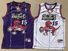 NBA Toronto Raptors Vince Carter 15 Throwback Jersey Sewn Stitched NWT Purple