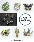 Wood badge pin Lily of the valley Daisy Ice cream Bee Swallow Butterfly Waf-Waf