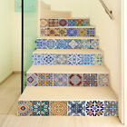 6pcs Creative 3D Stairway Color Stripe for Room Stairs Floor Decal Decor