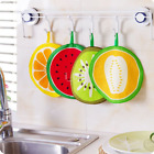 Utility Fruit Print Kitchen Hand Towel Microfiber Towels Cleaning Rag Dish US