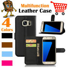 Leather Wallet Stand Folio Flip LSP Case Cover For Samsung Galaxy S7 / SM-G930