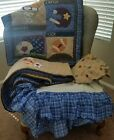 Baby Crib 4pc Sports Bedding Set Comforter Sheets Skirt Fitted Sheet Just Born