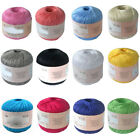 Mercerized Cotton Cord Thread Yarn for Embroidery Crochet Knitting Lace Jewelry