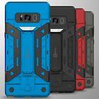 For Samsung Galaxy Note 8 Credit Card Case Hybrid Armor Stand Phone Cover