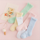 5 Pairs Baby Girl Boy Toddler Knee High Cotton Summer Socks 0-6 6-12 12-24 month