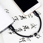 Braided Leather Micro USB Charger Sync Data Charging Cable Braid Braclet Hot