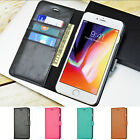 Luxury Leather Wallet Case Flip Stand Cover For Apple iPhone 8 / 8 Plus