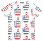 Hudson Outerwear The Finger Flag Vinyl T-Shirt Mens White