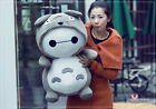 "18"" TOTORO TURNED INTO BAYMAX PLUSH STUFFED TOY GIFT  NEW"
