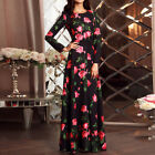 2017 Women Autumn Maxi Dress Floral Evening Cocktail Party Casual Long Sundress