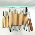 22PCS Pottery Clay Wax Sculpting Polymer Modeling Carving Tools Craft Kit Xmas image