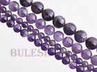 6~12mm Round Smooth Loose Gemstone Findings Spacer Beads Natural Amethyst Stone