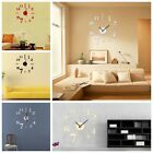 DIY 3D Mirror Analog Surface Large Number Wall Clock Sticker Modern Home Decor