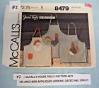 2 Vintage Apron Patterns, Mother Daughter and His & Hers *$4.99 Each Free Ship*