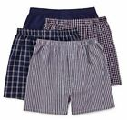 Stafford 4-Pack Men's 100% Cotton Woven Boxers Navy Pack